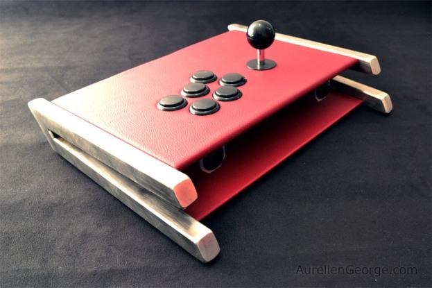 Arcade stick Inox-Cuir