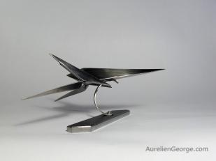 Sculpture metal Arwing