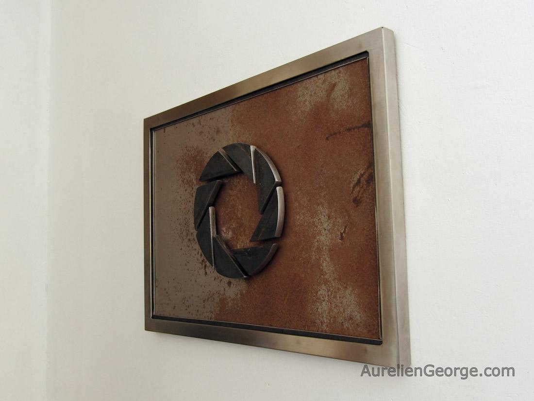 tableau acier portal aperture science aurelien george. Black Bedroom Furniture Sets. Home Design Ideas