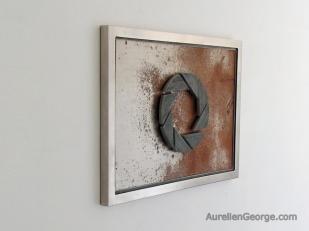 Tableau acier Portal Aperture Science
